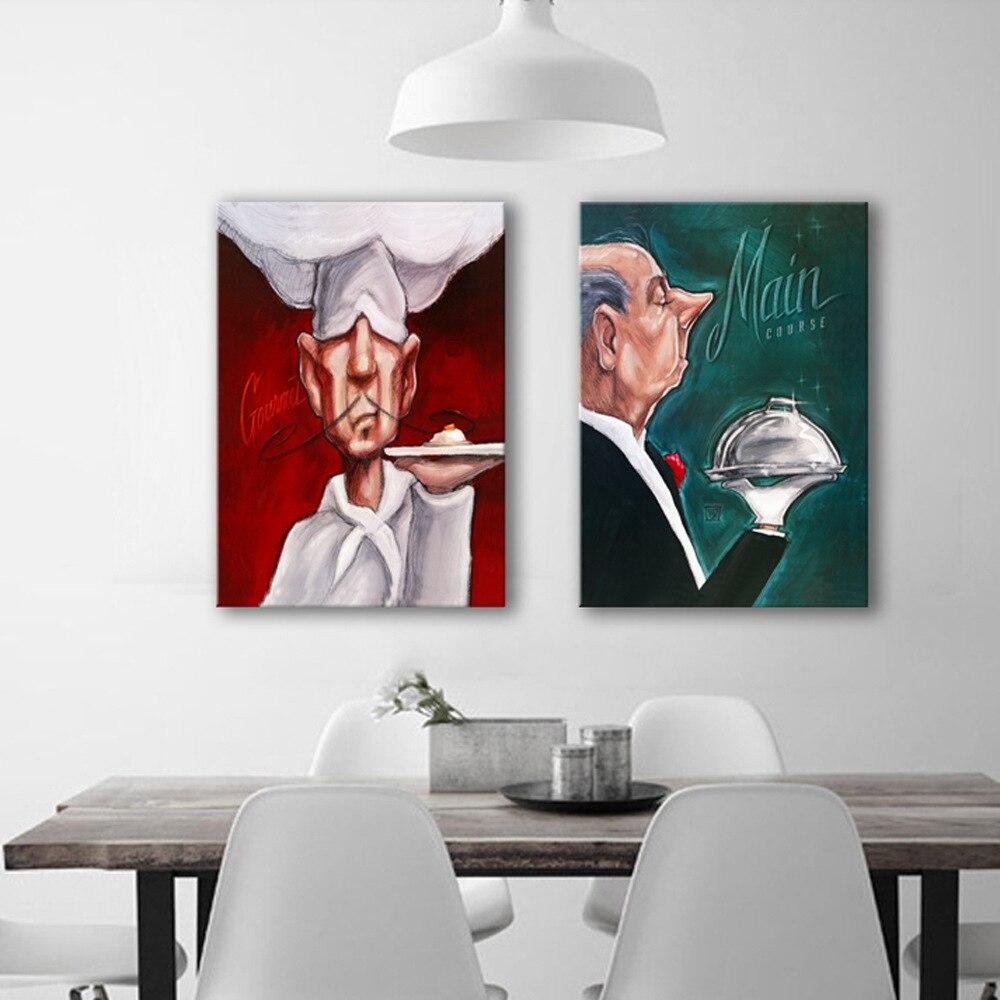 Restaurante cocina decoración pintura pintura sin marco moderno ...