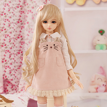 bjd accessories Original AS 1/4 bjd girl cute sweet suit Denim skirt little cat top quality doll as clothing doll costume uncle 1 3 1 4 1 6 doll accessories for bjd sd bjd eyelashes for doll 1 pair tx 03