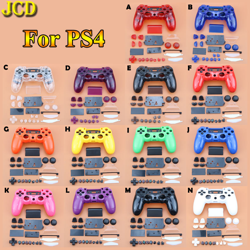JCD Clear Matt Handle Front Back Housing Shell Case Cover Buttons Kit For Sony PS4  Dualshock 4 Old Version Gamepad Controller