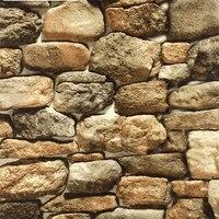 beibehang Stone Wallpaper Simulation Retro Faux Rock 3d wallpaper Restaurant Culture Stone Background Wall Paper Papel De Parede
