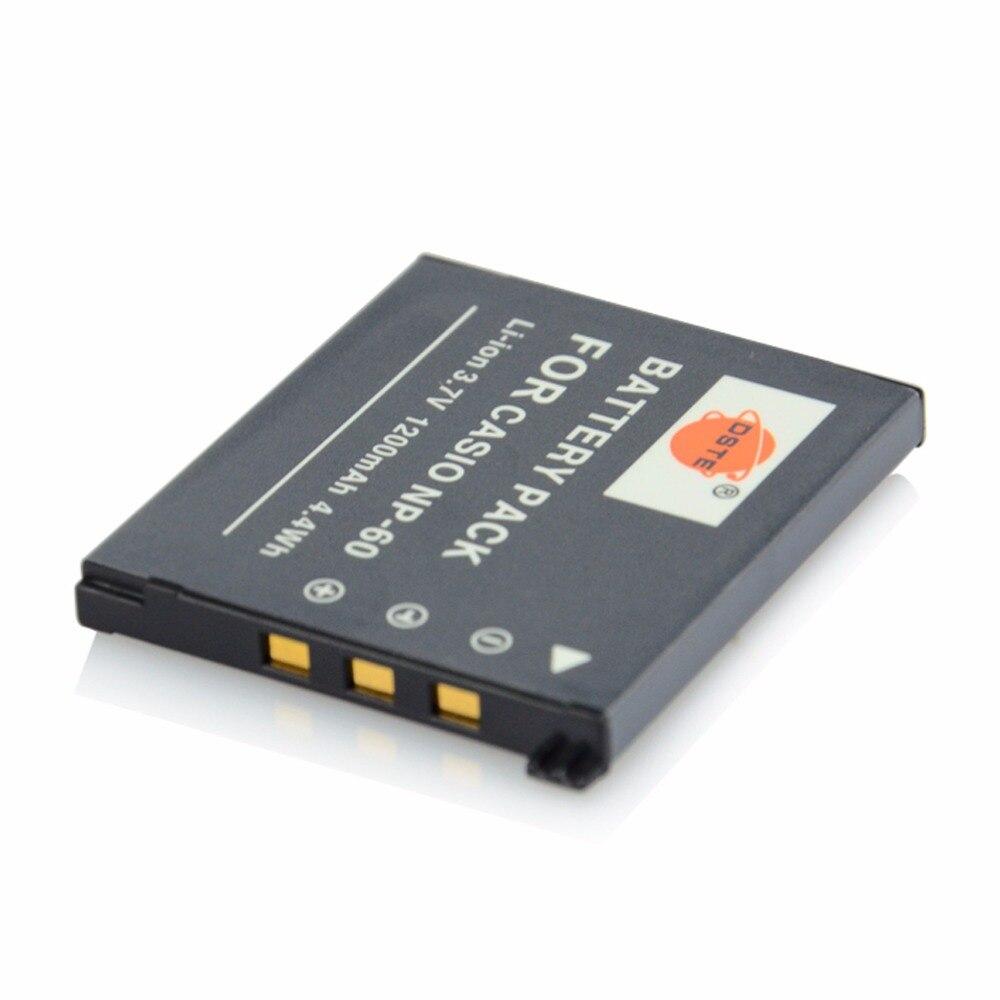 eb4640209 っDSTE NP-60 بطارية ل كاسيو EX-Z11 Z60 Z65 Z70 Z75 Z77 EXZ11 كاميرا ...