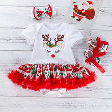 Baby Girls 2019 Summer New Baby Girls Clothing Sets Fashion Style Pretty Fox Printed Rompers Veil Dress Girls Christmas Clothes cheap YK Loving COTTON Genuine Leather Broadcloth REGULAR Fits true to size take your normal size O-Neck F3008 Coat Short Solid