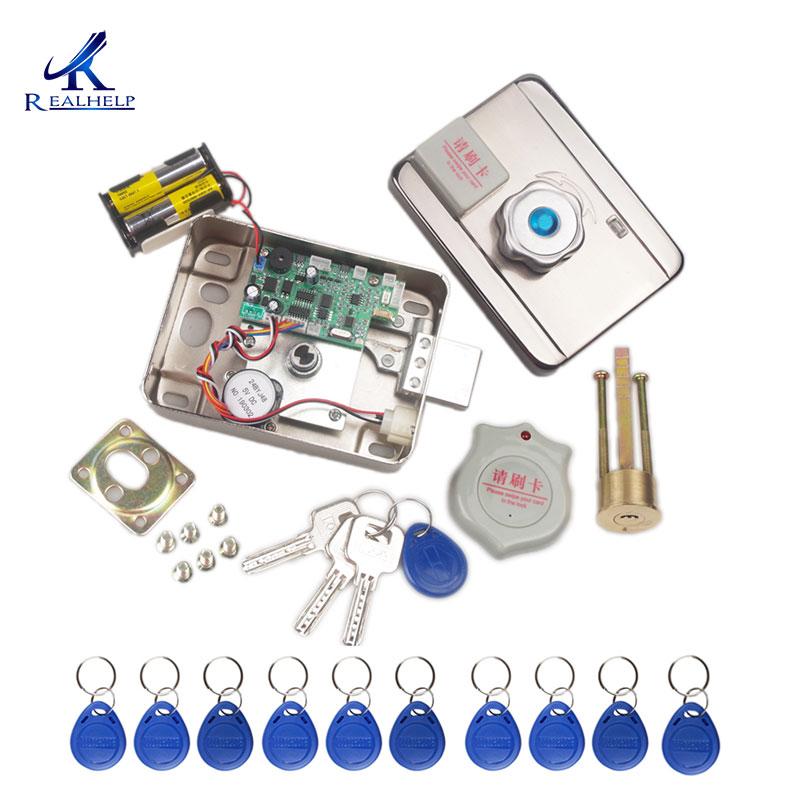 AA Dry Battery Easy Install Smart Lock RFID Electronic Locker Door Lock Wireless Rfid Electronic Battery