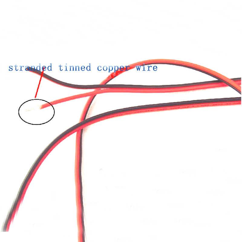 18AWG 2468 UL2468 PVC 2 broches fil 18 AWG fil électrique étamé cuivre isolé PVC Extension LED bande câble rouge noir