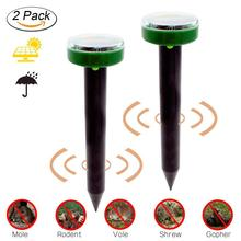 1Pc New Eco-Friendly Solar Power Ultrasonic Pest killer Ultrasonic Gopher Mole Snake Mouse killer Garden Yard Pest Repeller #5 bradex solar ultrasonic