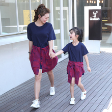 цены на mother daughter plaid dresses family look mommy and me clothes mom mum and daughter girl matching dress outfits family clothes  в интернет-магазинах