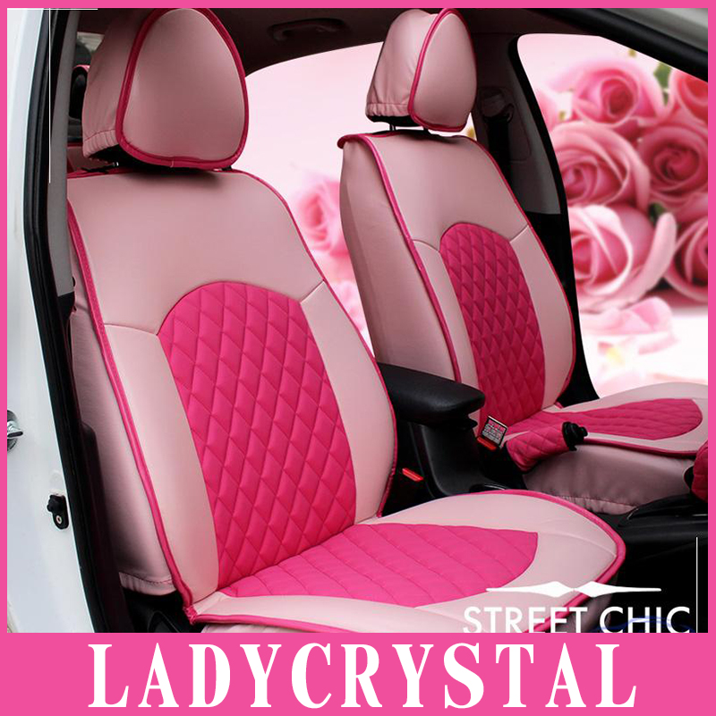 Ladycrystal Custom Car Seat Cover Cute Pink Cushions For
