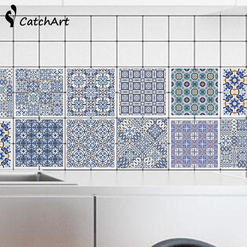 pvc etiqueta de la pared bao cocina adhesivo de azulejo de mosaico papel pintado auto