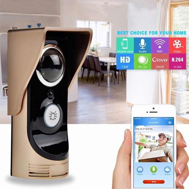 Wireless WiFi APP Video Visual Door Phone Doorbell Intercom for Mobile Phone Security Monitoring 140 Degree Width Version
