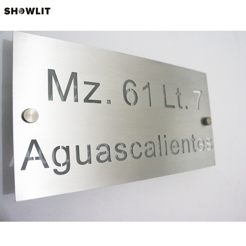 Stainless Steel Sign,304 Grade with brushed finish brushed stainless steel 304 grade door number 3