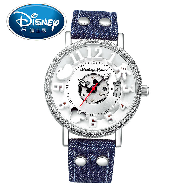 Disney Kids Watch Men Watch Casual Fashion Cute Cool Quartz Wristwatches Boys Water Resistant Leather clock casual leather band mens watch fashion business analog display quartz wristwatches montre homme water resistant luminous clock