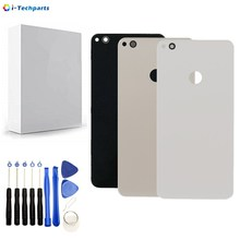 For Huawei Ascend P8 Lite 2017 Back Battery Door Glass Cover Repair Parts Replacement with Camera Lens P9 Lite 2017 Back Glass
