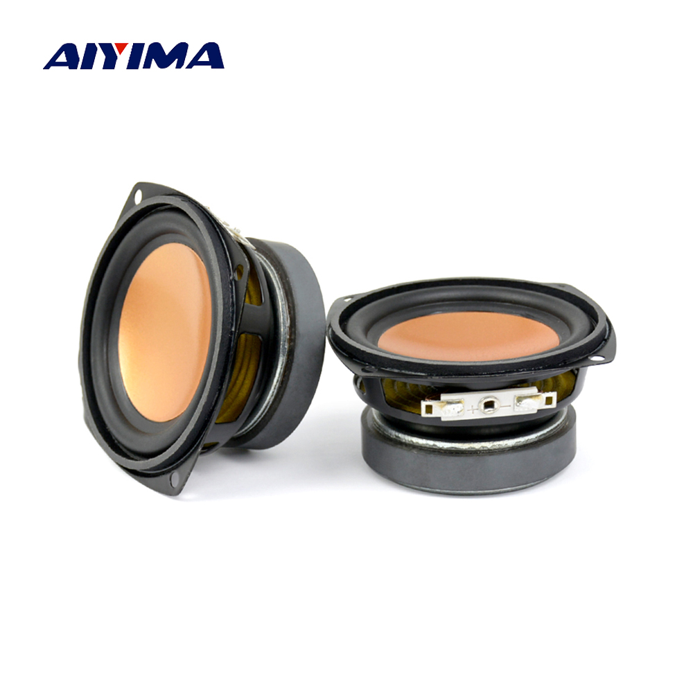 Aiyima 2PC Audio Speaker 3 Inch 4Ohm 20W Full Range Bass Speaker Multimedia Loudspeaker Desktop Audio DIY ghxamp 3 inch 4ohm 30w midrange speaker car speaker mid human voice sound good loudspeaker for lg diy 2pcs