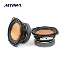 AIYIMA 2 шт. аудио динамик 3 дюйма 4Ohm 20 Вт полный спектр бас динамик мультимедийный динамик Настольный аудио DIY