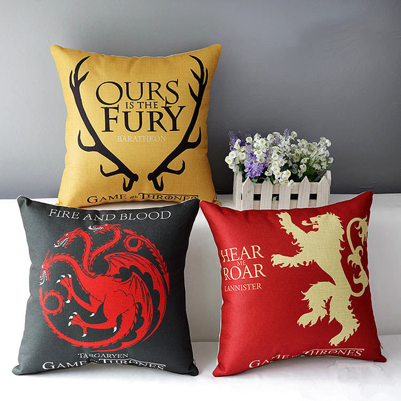 Decorative Cushion Home Decor Game Of Thrones Printed