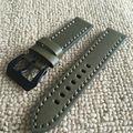 Chegada de luxo Novo Sem Tags para Panerai 20mm22mm 24mm 26mm Novo Bezerro Pulseira de Relógio De Couro de Bambu Mar Linhas cinta
