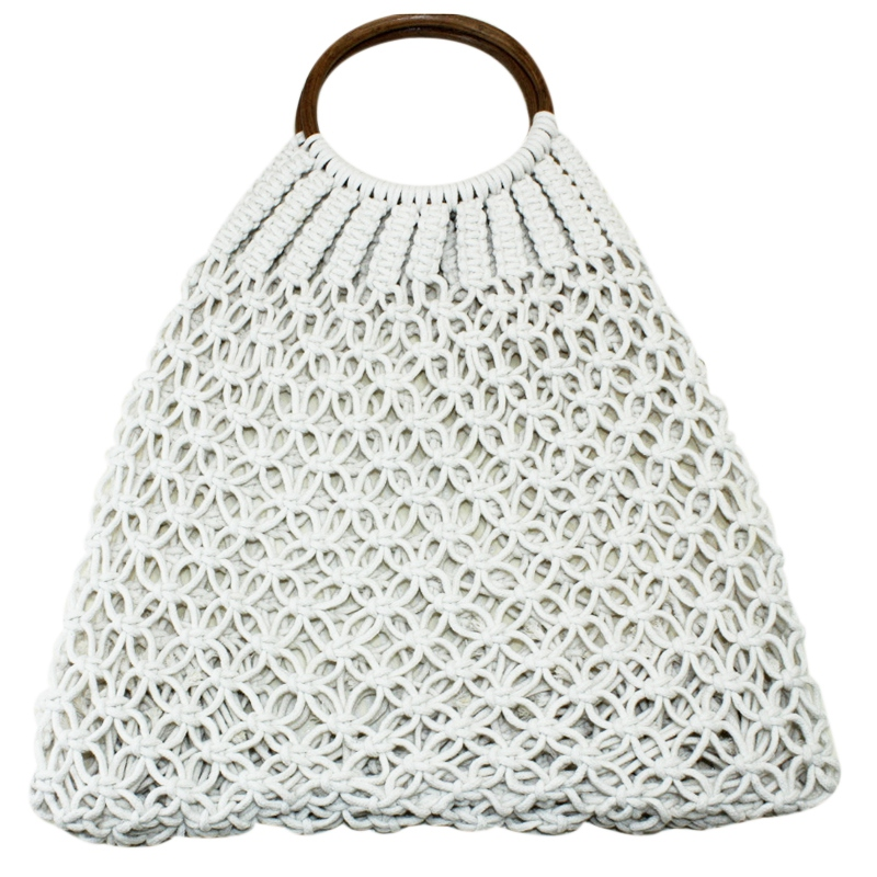Handbag Woven Storage-Bags Totes Fashion Summer Women's Travel Natural Outdoor Beach