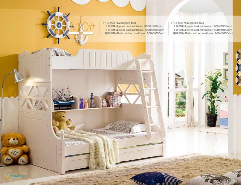 2016 luxury baby beds beds literas rushed top fashion wood Best kids bedroom furniture