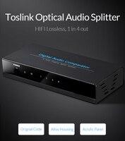 Unnlink 1 4 SPDIF TOSLINK Splitter Digital Optical Audio True Switch Switcher 1 In 4 Out