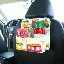 1 Piece Car Styling Cute Cartoon Back Seat Organizer Storage Bag Drink Cup Holder With Touch Screen Film