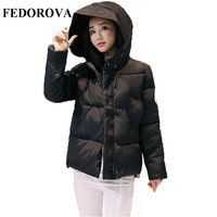 2017 Winter New Short Paragraph Down Jacket Cotton Long Sleeves Jacket Cotton Jacket Korean Slim Was