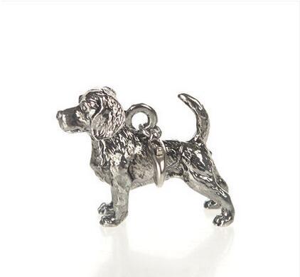 Unique Handmade Boho Chic 3D Beagle pendant Necklace Female/Male Gift Necklace--12pcs/Lot(6 Colors Free Choice)