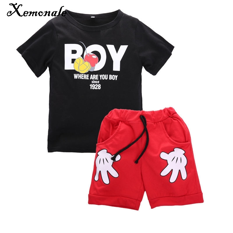 Xemonale Toddler Girls Clothing Sets Kids Baby Outfit Christmas Costumes For Boy Clothes Sets 2017 summer Children Sport Suits