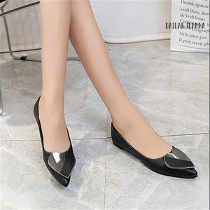 Image 4 - Sharp head flat bean shallow mouth single elegant Ms. shoes spring and autumn 2018 new type of wild womens shoes European style