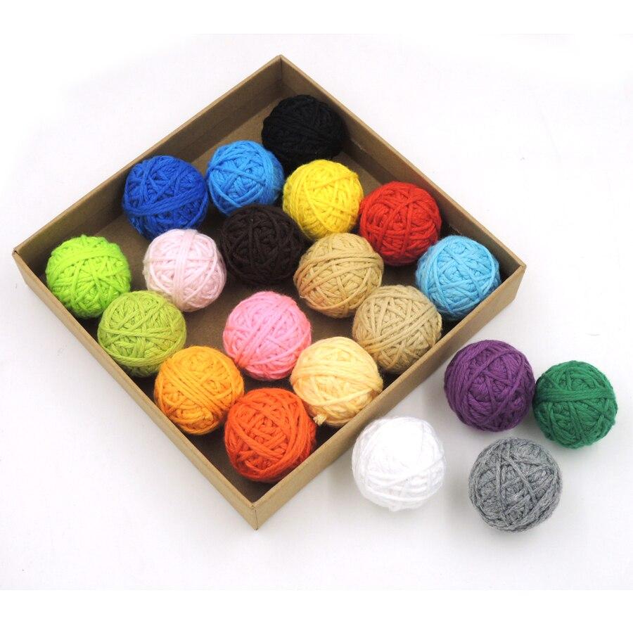 ᗕDIY Voodoo bolas chunky algodón crochet 20 colores, collar ...