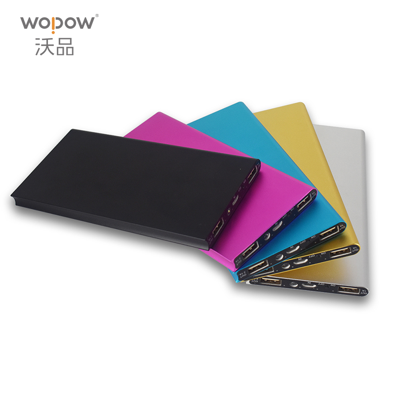 wopow 10000 mAh Power Bank Portable Charger led light Backup Power 2 USB External Battery Charger