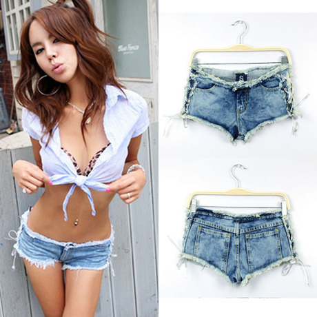 2015 Summer New Nightclub Sexy Side Strap Pants Pr...
