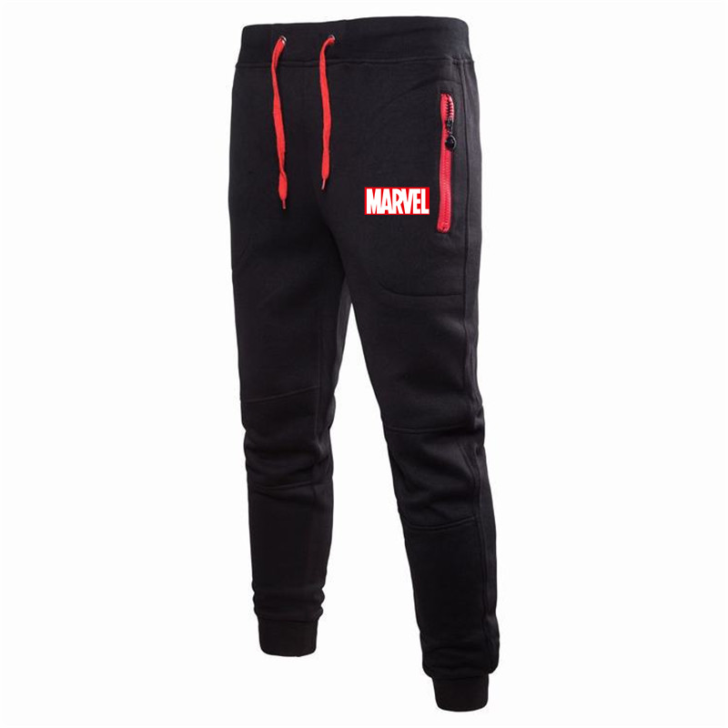 Marvel-Pants Clothing Sweat-Trousers Fitness Bodybuilding Brand Gyms For Runners Autumn