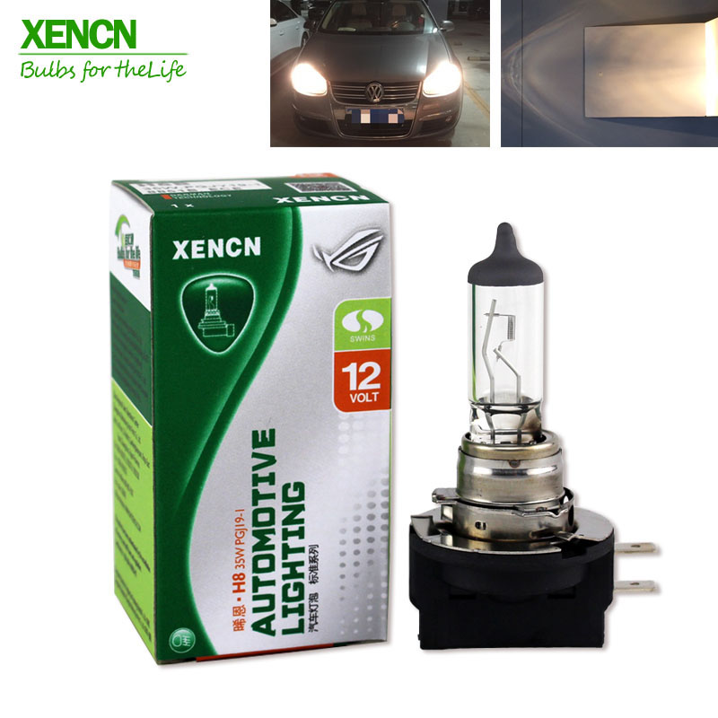 XENCN H8B 12V 35W 3200K Clear Series Standard Germany Quality  Halogen Fog Lamp 2pcs Free Fast Shipping Long Lifetime 2pcs