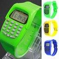 1 шт. студент дети часы часы подарок Дешевые Мини-Цифровые наручные часы Калькулятор Кулоны часы силиконовые мода повседневная H5
