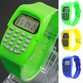 1pc student children watch clock gift Cheap Mini Digital wristWatches Calculator Pendents watches silicone fashion casual H5