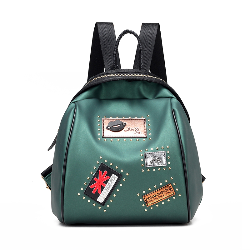 Women Backpacks Zipper Rivet Backpacks Mochilas Feminina Rugzak Preppy Style Sac a dos Bolsos Mujer Women