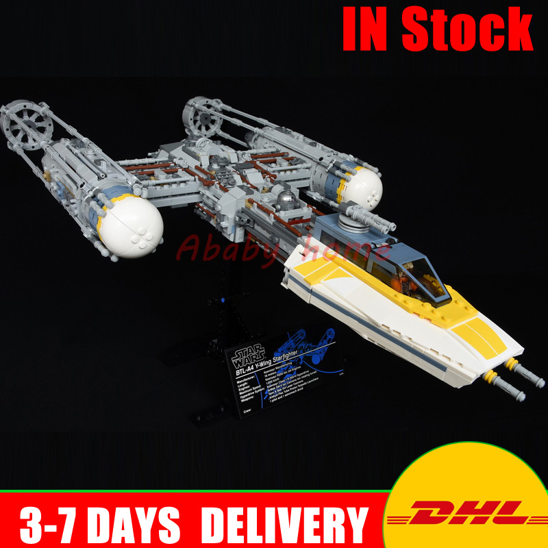 2018 New Lepin 05143 Star Series Wars The 75181 New Y-wing Starfighter Set Model Building Blocks Bricks DIY Toys Kids As Gifts