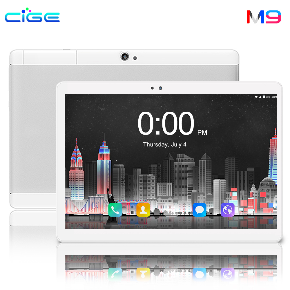 CIGE 2019 Global Version Android 8.0 OS 10 Inch Tablet Octa Core 6GB RAM 64GB ROM 1280*800 Dual SIM Cards Tablets PC 10.1 Gaming