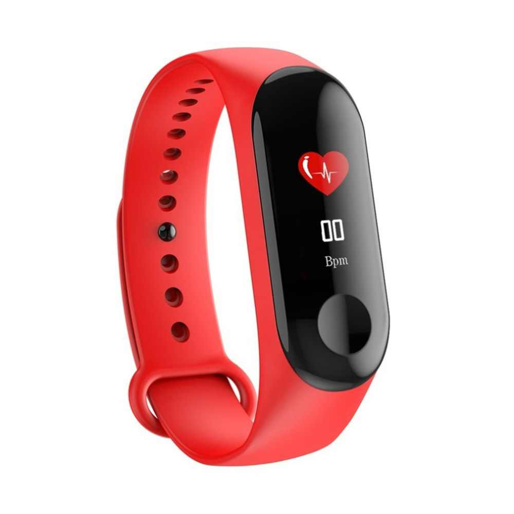 Fitness Tracker Smart Band Watch Bracelet 0.96 inch HD IPS Color Screen Pedometer Heart Rate Monitor Waterproof Wristband