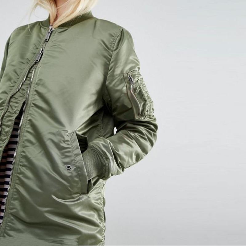 Winter long jackets and coats 2017 spring female coat casual  military olive green bomber jacket women basic jackets plus size 2