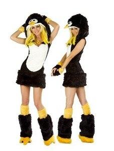 Костюм пингвина из искусственного меха с изображением животных, костюм Пингвин QQ, женское нарядное праздничное платье на Хэллоуин, карнава...