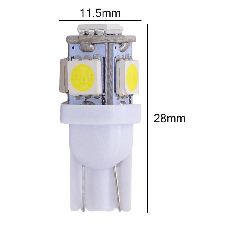 HTB1LBjeXE rK1Rjy0Fcq6zEvVXab Katur 10pcs T10 W5W LED Bulb 5 SMD LED White Blue Red Yellow Green 194 168 Super Bright wedge Lights bulbs Lamps 12V 5050 SMD