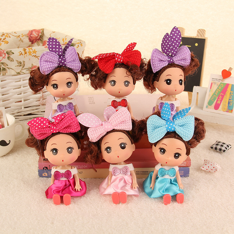 5pcs/set 12cm Korean Style Kawaii Girls Plastic Classic Gift Figure Cute Beautiful Toy Moveable Joint Body Dolls for Kids best girl toys 2017