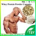 500 мг 100 Капсул Чистый Сывороточный Протеин Порошок Капсулы WPC80 Фитнес Пищевые Добавки, Увеличить Мышцы Тела Вес Пищи