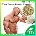 500 mg 100 Cápsulas Cápsulas de Pó de Proteína de Soro de Leite Puro WPC80 Fitness Suplementos Nutricionais Aumento Do Músculo Do Corpo Peso Alimentos