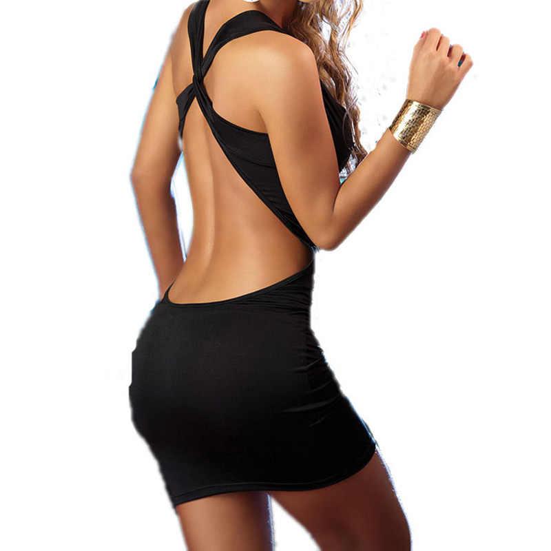 Güzel sonsuza Yaz Seksi Backless Bandaj Karşı vestidos Mini gece elbisesi Gömme Bodycon Kadın Elbise bty341