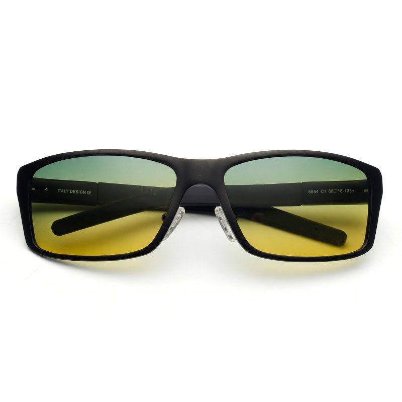 02ddd3f3b164 Aoron Men s Day Night Vision Goggle Driving Polarized Sunglasses Goggles Glasses  Aluminium Magnesium Frame Eyewear 8554 For M-in Sunglasses from Apparel ...