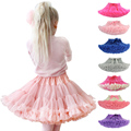 Children Girls Tutu Skirt Chiffon Fluffy Baby Girl Princess Dance Skirts Party Tulle Pettiskirt American Kids Tulle Petticoat