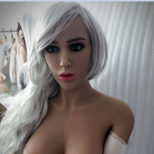 #44 Europe face adult love dolls head for lifelike sex doll, real dolls head with oral sex products-tan