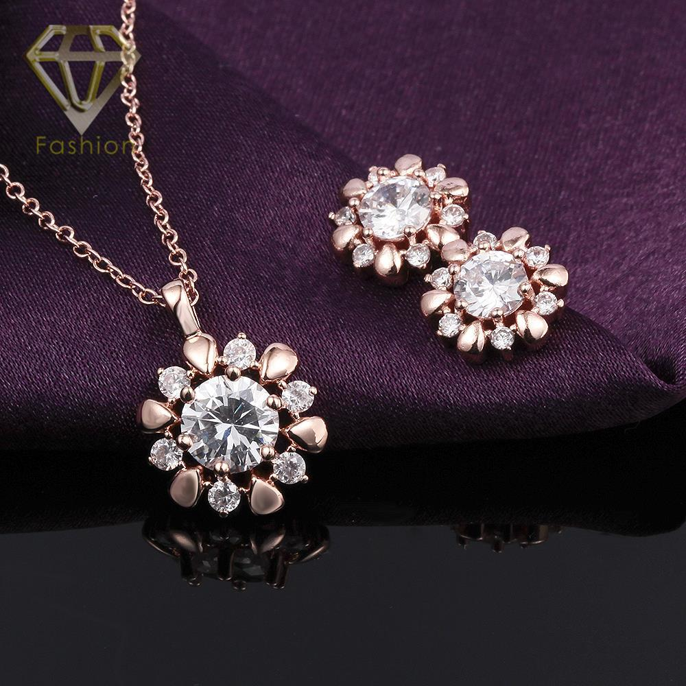 Antique jewellery uk hot sale classic rose flower inlaid cz rose antique jewellery uk hot sale classic rose flower inlaid cz rosewhite gold color necklaceearrings jewelry sets in jewelry sets from jewelry accessories aloadofball Image collections